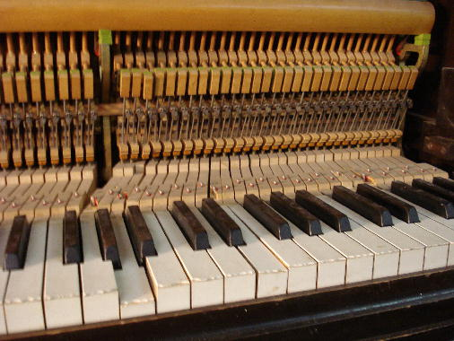 10 - All notes play except broken key. Repairs and adjustments required before piano can be tuned again.