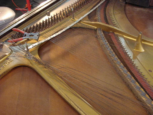 24 - Treble strings removed