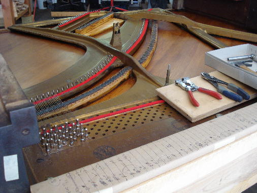 27 - Re-stringing & re-pinning treble section