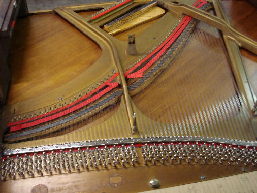 28 - Treble re-strung, pressure bar & braid installed, chipped to pitch
