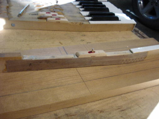 5 - Rex-Lith wood filler in remaining spaces add stability