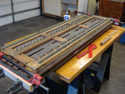 8 - Loose sides reglued to keybed